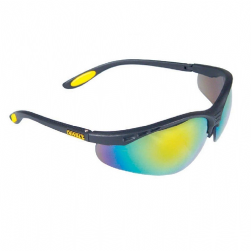 Dewalt Reinforcer™ ToughCoat™ Safety Glasses Fire Mirror Lenses